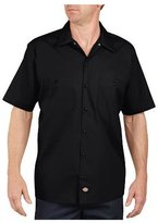 Dickies Occupational Workwear LS535BK XL Polyester/ Cotton Mens Short Sleeve Industrial Work Shirt, Extra Large