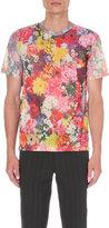 Comme Des Garcons Floral Print Mesh T-shirt