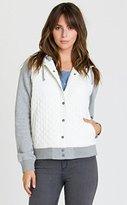 RVCA Junior's Regulate Fleece Hooded Quilted Jacket