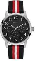 GUESS Men's Quartz Rubber and Nylon Casual Watch