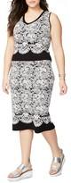 Rachel Roy Plus Size Women's Floral Jacquard Skirt