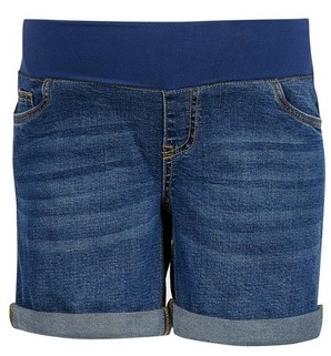 Dorothy Perkins Womens Dp Maternity Blue Midwash Underband Denim Shorts, Blue