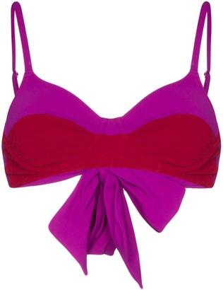Araks Yelena two-tone bikini top