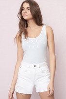 Garage Distressed White Mom Short