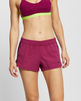 adidas Women's Purple Shorts - Pacer 3-Stripes Woven Shorts - Size L at The Iconic
