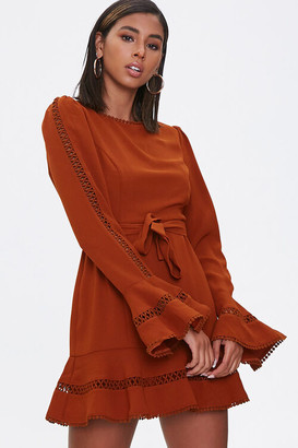 Forever 21 Flounce-Hem Mini Dress