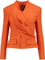 Balmain Wrap-effect crepe jacket