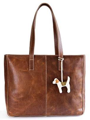 Women's Vintage Genuine Leather Tote Bag for Women - Leather Purse & Handbag for Women