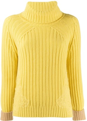 Ribbed Knit Rollneck Sweater