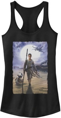 Star Wars Juniors' The Force Awakens Rey And BB-8 Painting Tank Top