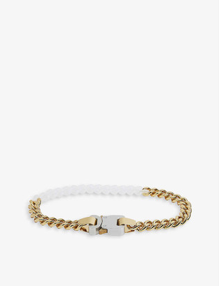 Alyx Rollercoaster-buckle brass and nylon necklace