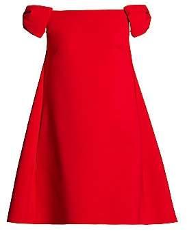 Valentino Women's Rosso Capsule Off-The-Shoulder Shift Dress