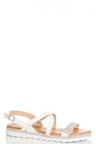Quiz White Diamante Strappy Sandals