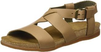 El Naturalista Women's NF46 Soft Grain MUESLI/Zumaia Flat Sandal 37 Medium EU (7 US)