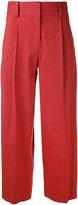 Diane von Furstenberg cropped palazzo pants - women - Linen/Flax/Spandex/Elastane/Viscose - 4