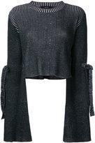Ellery flare-sleeve cropped sweater - women - Merino - M