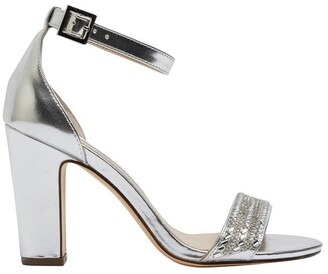 Nina Suzette Silver Metallic Foil Sandal