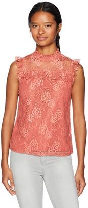 Self Esteem Women's All Over Floral Lace Top