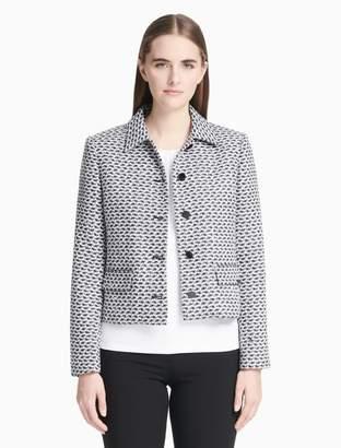 Calvin Klein Tweed Button-Front Jacket