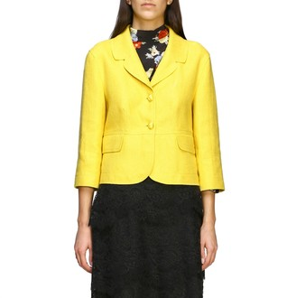 Ermanno Scervino Blazer 2-button Jacket In Linen Blend
