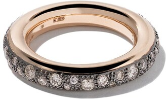 Pomellato 18kt rose gold Iconica brown diamond ring
