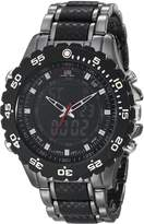 U.S. Polo Assn. Men's Analog-Digital Dial Gun Metal Bracelet Watch US8170