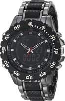 U.S. Polo Assn. Sport Men's US8170 Black and Gunmetal-Tone Bracelet Watch