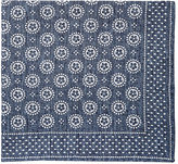 Thomas Mason Men's Medallion-Pattern Canterbury Handkerchief-BLUE