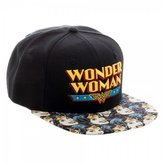 Bioworld Official Snapback- Wonder Woman Vintage Faces Bill DC Comics Hat
