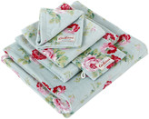 Cath Kidston Antique Rose Bouquet Towel - Blue - Guest Towel