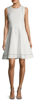 Ava & Aiden Cross Threading Fit And Flare Dress
