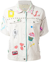 P.A.R.O.S.H. embroidered jacket - women - Cotton/Calf Leather - S