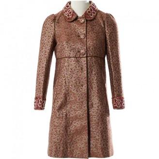 Valentino Red Burgundy Cotton Coat for Women