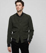 Reiss Dragon Cotton Bomber Jacket