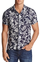 Todd Snyder Convertible Floral Print Regular Fit Button-Down Shirt