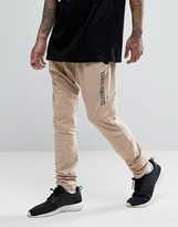 Criminal Damage Skinny Joggers With Drop Crotch