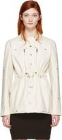 Courreges Ivory Belt Zip Jacket