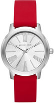Michael Kors Women's Hartman Red Silicone Strap Watch 38mm MK2636, A Macy's Exclusive Style