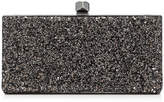 Jimmy Choo CELESTE/S Bronze Mix Midnight Coarse Glitter Fabric Clutch Bag with Cube Clasp