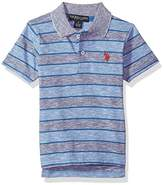 U.S. Polo Assn. Short Sleeve Stripe Pique Polo Shirt