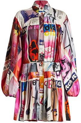 Zimmermann Wavelength Long-Sleeve Mini Dress