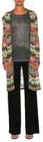 Missoni Zigzag Knit Open-Front Long Cardigan, Multi