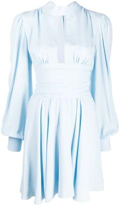 Brognano Flared Mock-Neck Dress