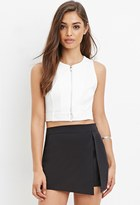 Forever 21 FOREVER 21+ Zip-Front Belted Top