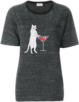 Saint Laurent cat print T-shirt