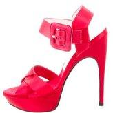 Roger Vivier Satin Platform Sandals