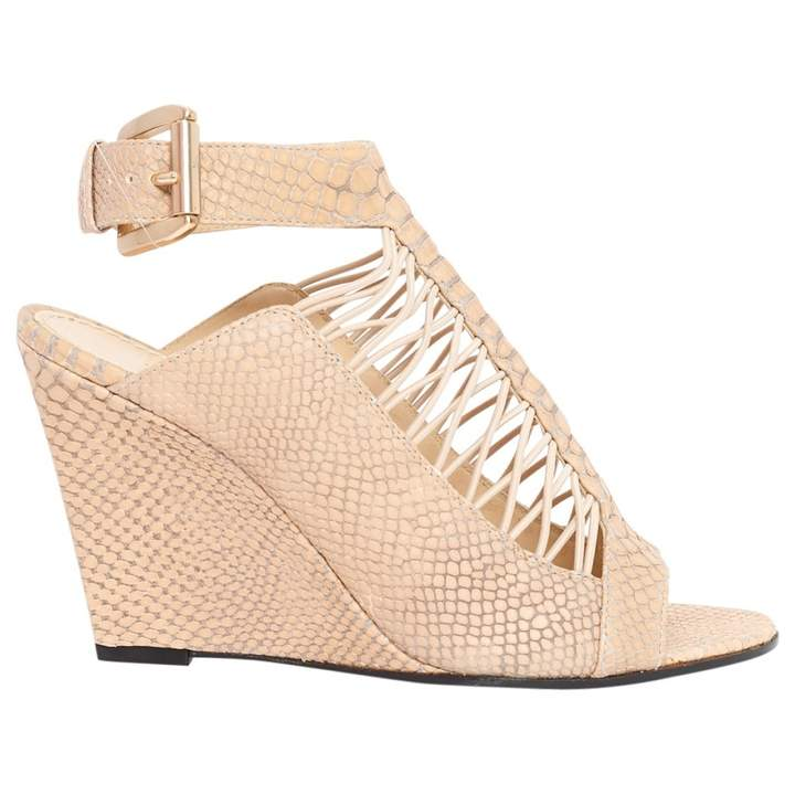 Givenchy Beige Leather Sandals