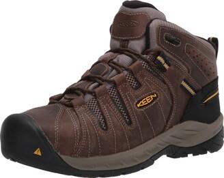 Keen mens Flint Ii Mid Steel Toe Non Slip Work Boot Construction Shoe