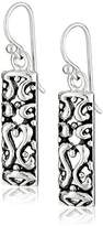 Barse Sterling Ornate Scroll Drop Earrings