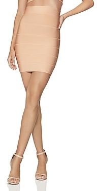 Herve Leger High-Waist Bandage-Style Mini Skirt